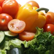 Cucumbers, Lettuce, Onions, Peppers, Squash, Tomatoes, Turnips