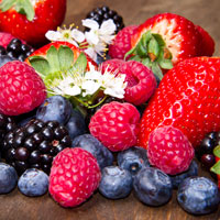 Strawberries, Raspberries, Blackberries, Blue Berries, Saskatoon Berries